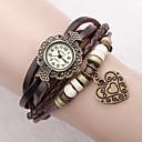 hesapli Bileklik Saatler-Kadın's Quartz Bilezik Saat PU Bant Çiçek / Heart Shape / Bohem / Moda Siyah / Beyaz / Mavi / Kırmızı / Yeşil