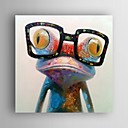 tanie Wydruki-Hang-Malowane obraz olejny Ręcznie malowane - Pop art Nowoczesny Brezentowy / Walcowane płótno