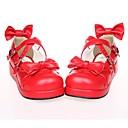 preiswerte PS3 Zubehör-Schuhe Niedlich Lolita Plattform Schuhe Schleife 3 CM Weiß Schwarz Rot Für PU - Leder/Polyurethan Leder