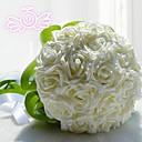 preiswerte Hochzeitsblumen-Hochzeitsblumen Sträuße Hochzeit Spitze Polyester 28 cm ca.
