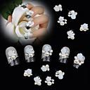 billige Rhinsten&Dekorationer-10pcs hvid 3d rose blomst perle Rhinestone DIY tilbehør nail art dekoration