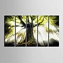baratos Impressões-Paisagem Modern, 5 Painéis Vertical Estampado Decoração de Parede Decoração para casa