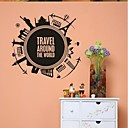 abordables Adhesivos de Pared-Paisaje Formas Arquitectura Cosecha Caricatura Pegatinas de pared Calcomanías de Aviones para Pared Calcomanías Decorativas de Pared,