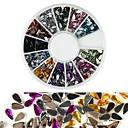 abordables Decoraciones y Diamantes Sintéticos para Manicura-1 pcs Brillante Kit de uñas Joyas de Uñas Encantador arte de uñas Manicura pedicura Diario Moda / Acrílico / Joyería de uñas
