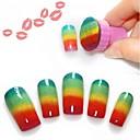 abordables Estampados para Uñas-Nail Art Tool Negro arte de uñas Manicura pedicura Clásico Diario