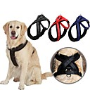 cheap Dog Collars, Harnesses & Leashes-Dog Harness Adjustable / Retractable Solid Nylon Black Red Blue