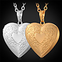 preiswerte Modische Halsketten-Damen Anhängerketten / Medaillon Halskette - vergoldet Liebe Modisch Golden Modische Halsketten Schmuck Für Alltag, Normal