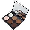 tanie korektor & Contour-6 kolorów Pudry Puder prasowany Rozjaśniacze i samoopalacze Sucha / Matowe Twarz Makijaż Kosmetyk
