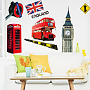 cheap Wall Stickers-Landscape Still Life Fashion History Transportation Architecture Vintage Words & Quotes Cartoon Fantasy Wall Stickers Plane Wall Stickers