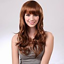 cheap Men's Cufflinks-Synthetic Wig Women's With Bangs Wig Long Dark Brown