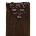 זול תוספות שיער הדבקה-PANSY Clip In / On תוספות שיער אדם טבעי תוספות שיער משיער אנושי שיער ברזיאלי בגדי ריקוד נשים