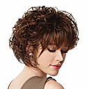 cheap Synthetic Capless Wigs-Synthetic Wig Synthetic Hair Brown Wig Women's Short