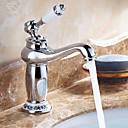 billige Frittstående vask-Baderom Sink Tappekran - Utbredt Krom Centersat Et Hull / Enkelt Håndtak Et Hull