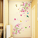 cheap Wall Stickers-Florals Cartoon Wall Stickers Plane Wall Stickers Decorative Wall Stickers, PVC Home Decoration Wall Decal Wall