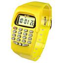 preiswerte Modische Uhren-Kinder Modeuhr / Digitaluhr Japanisch Kalender / Armbanduhren für den Alltag Caucho Band Süßigkeit Gelb / Zwei jahr