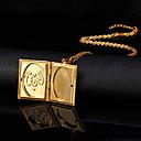 preiswerte Modische Halsketten-Damen Anhängerketten / Medaillon Halskette - 18K vergoldet, vergoldet Modisch Modische Halsketten Schmuck Für Hochzeit