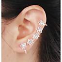 ieftine Cercei-Pentru femei Diamant sintetic Cătușe pentru urechi Ștras Diamante Artificiale cercei Αστέρι femei Lux Pietrele Lunilor Bijuterii Pentru Nuntă Petrecere Zilnic Casual Mascaradă Petrecere Logodnă