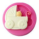 abordables Zapatillas Deportiva de Mujer-cuatro c fondant carro molde de la magdalena de silicona bebé molde, decoración de la torta, herramientas de decoración de fondant suministra de color