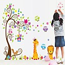 cheap Wall Stickers-Wall Stickers Wall Decal Colorfull Tree Removable Washable PVC