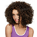 cheap Synthetic Wigs-Synthetic Wig Curly Synthetic Hair Highlighted / Balayage Hair / African American Wig Brown Wig Women's Short Capless