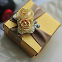 cheap Keychain Favors-Round Square Cubic Card Paper Favor Holder with Printing Flower Favor Boxes Gift Boxes - 6