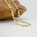 cheap Men's Bracelets-Figaro Chain Necklace - Gold Plated Fashion Golden Necklace For Wedding, Party, Daily