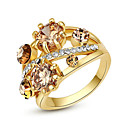 cheap Rings-Women's Crystal Statement Ring - Alloy Fashion One Size Golden For Party