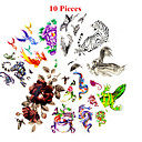 cheap Rhinestone & Decorations-10 pcs Tattoo Stickers Temporary Tattoos Animal Series / Flower Series Waterproof / Non Toxic Body Arts / Pattern