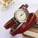 baratos Relógios de Pulseira-Mulheres Bracele Relógio / Relógio de Pulso Relógio Casual Couro Banda Vintage / Boêmio / Fashion Branco / Azul / Vermelho