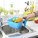 저렴한 조리기구-네모 난 핸들 과일 드레인 물 (색상 랜덤)