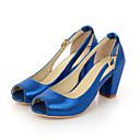 baratos Sandálias Femininas-Mulheres Sapatos Materiais Customizados Verão Conforto / Sapatos para Daminhas de Honra Sandálias Caminhada Salto Robusto Peep Toe