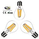 cheap LED Smart Bulbs-ONDENN 3pcs 2800-3200 lm E26/E27 LED Filament Bulbs A60(A19) 8 leds COB Dimmable Warm White AC 110-130V AC 220-240V
