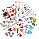 cheap Temporary Tattoos-10 Non Toxic Pattern Waterproof Animal Series Flower Series Others Tattoo Stickers