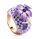 cheap Rings-Women's Crystal Statement Ring - Alloy Flower Luxury, Fashion One Size For Party