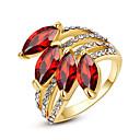 ieftine Inele la Modă-Pentru femei Cristal / Sintetic Ruby / Diamant sintetic Inel de declarație - Diamante Artificiale Pietrele Lunilor 7 / 8 / 9 Pentru Nuntă / Petrecere / Zilnic