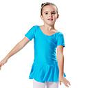 abordables Ropa de Baile para Niños-Ballet Vestidos / Vestidos y faldas / Tutús y Faldas Entrenamiento / Rendimiento Licra Mangas cortas Princesa Vestido