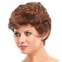 cheap LED Bulbs-Synthetic Wig Curly Short Bob Synthetic Hair Natural Hairline Brown Wig Women's Short Capless