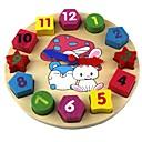 baratos Brinquedos de Leitura-Brinquedo de madeira do relógio Relógio Educação Madeira Dom
