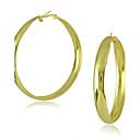 abordables Pendientes-Mujer Pendients de aro - Acero inoxidable Dorado / Plateado Para