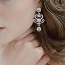 billige Mode Øreringe-Dame Krystal Ørering - Sølv Klassisk Til Fest