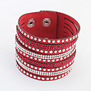 cheap Bracelets-Women's Wrap Bracelet - Rhinestone European, Fashion Bracelet Red / Green / Blue For Daily