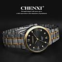 baratos Artigos de Festas-CHENXI® Homens Relógio de Pulso Aço Inoxidável Banda Amuleto Prata