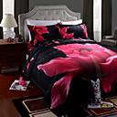 preiswerte Covers 3D Duvet-Bettbezug-Sets 3D 4 Stück Polyester Reaktivdruck Polyester 4-teilig (1 Bettbezug, 1 Bettlaken, 2 Kissenbezüge)