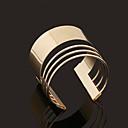 رخيصةأون كماشة-للمرأة أساور اصفاد - مطلية بالذهب مخصص, قديم, أسلوب بسيط سوار ذهبي من أجل هدايا عيد الميلاد زفاف حزب