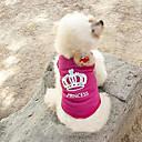 abordables Ropa para Perro-Gato Perro Camiseta Ropa para Perro Tiaras y Coronas Rosa Terileno Disfraz Para Primavera & Otoño Verano Mujer Moda
