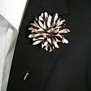 preiswerte Anstecker und Broschen-Damen Broschen - Blume Stilvoll Brosche Braun und Weiß Für Alltagskleidung