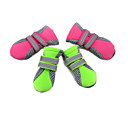 cheap Dog Clothes-Cat Dog Boots / Shoes Waterproof Solid Green Pink For Pets