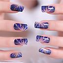 billige Heldekkende negleklistremerker-3D Nail Stickers Nail Stamping Template Daglig Tegneserie Mote Høy kvalitet