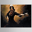cheap Oil Paintings-Oil Painting Hand Painted - People Modern / European Style Canvas
