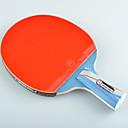 זול שולחן טניס-מחבטי טניס עץ גוּמִי 5 כוכבים ידית קצרה